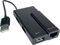 Картридер/USB-хаб Wiretek WK-EU400