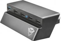 Картридер/USB-хаб Trust GXT 219 PS4 Slim