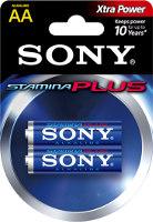 Аккумуляторная батарейка Sony Stamina Plus 2xAA