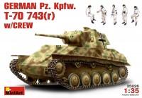 Сборная модель MiniArt Pz.Kpfw. T-70 743(r) w/Crew (1:35)