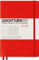 Ежедневник Leuchtturm1917 Weekly Planner Notebook Red