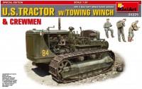 Сборная модель MiniArt U.S. Tractor w/Towing Winch and Crew (1:35)