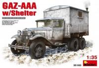 Сборная модель MiniArt GAZ-AAA w/Shelter (1:35)