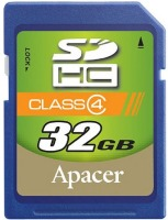 Фото - Карта памяти Apacer SDHC Class 4 32Gb