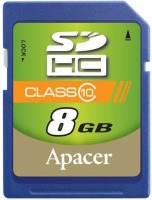 Карта памяти Apacer SDHC Class 10 8Gb