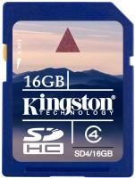 Фото - Карта памяти Kingston SDHC Class 4 16Gb