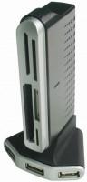 Картридер/USB-хаб Gembird UHB-CT18