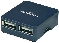 Фото - Картридер/USB-хаб MANHATTAN Hi-Speed USB Micro Hub
