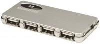 Картридер/USB-хаб MANHATTAN Hi-Speed USB 2.0 Micro Hub