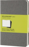 Блокнот Moleskine Set of 3 Plain Cahier Journals Pocket Pebble Grey