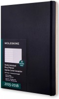 Ежедневник Moleskine 18 months Weekly Planner Soft Large Black