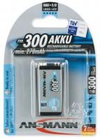 Аккумуляторная батарейка Ansmann maxE 1xKrona 300 mAh