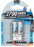 Фото - Аккумуляторная батарейка Ansmann 2xAA 2700 mAh