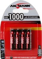 Аккумуляторная батарейка Ansmann Global Line 4xAAA 1000 mAh