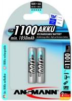 Аккумуляторная батарейка Ansmann 2xAAA 1100 mAh