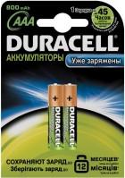 Аккумуляторная батарейка Duracell 2xAAA 800 mAh