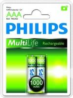 Аккумуляторная батарейка Philips MultiLife 2xAAA 1000 mAh