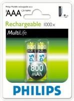 Аккумуляторная батарейка Philips MultiLife 2xAAA 800 mAh