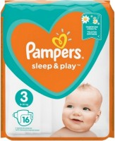 Фото - Подгузники Pampers Sleep and Play 3 / 16 pcs