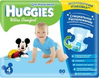 Фото - Подгузники Huggies Ultra Comfort Boy 4 / 80 pcs