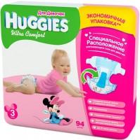 Фото - Подгузники Huggies Ultra Comfort Girl 3 / 94 pcs