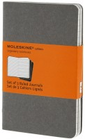 Блокнот Moleskine Set of 3 Ruled Cahier Journals Pocket Grey