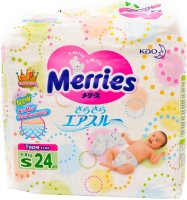 Подгузники Merries Diapers S / 24 pcs