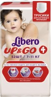 Подгузники Libero Up and Go 4 / 52 pcs