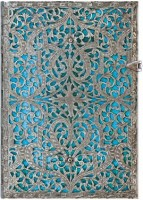 Блокнот Paperblanks Silver Filigree Maya Blue Middle