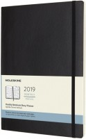 Ежедневник Moleskine Monthly Planer Soft Large Black