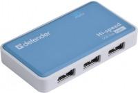 Картридер/USB-хаб Defender Quadro Power