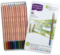 Фото - Карандаши Derwent Academy Watercolour Set of 12