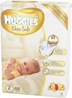Подгузники Huggies Elite Soft 2 / 66 pcs