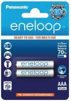 Аккумуляторная батарейка Panasonic Eneloop 2xAAA 750 mAh