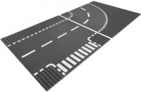 Фото - Конструктор Lego T-Junction and Curved Road Plates 7281