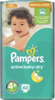 Фото - Подгузники Pampers Active Baby-Dry 4 Plus / 62 pcs