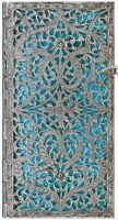 Блокнот Paperblanks Silver Filigree Maya Blue Slim