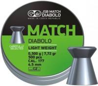 Пули и патроны JSB Match Diablo 4.51 mm 0.5 g 500 pcs