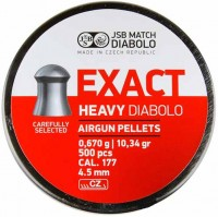 Пули и патроны JSB Diabolo Exact Heavy 4.5 mm 0.67 g 500 pcs