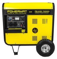 Фото - Электрогенератор Powermat PM-AGR 7000KED