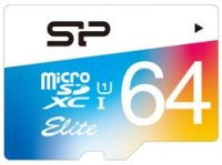 Карта памяти Silicon Power Elite Color microSDXC UHS-1 Class 10 64Gb