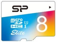 Карта памяти Silicon Power Elite Color microSDHC UHS-1 Class 10 8Gb