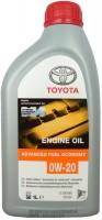 Моторное масло Toyota Advanced Fuel Economy 0W-20 1L