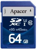 Фото - Карта памяти Apacer SDXC UHS-I 95/45 Class 10 64Gb