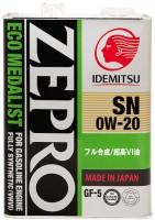 Моторное масло Idemitsu Zepro Eco Medalist 0W-20 4L