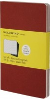 Блокнот Moleskine Set of 3 Squared Cahier Journals Pocket Red