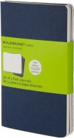 Блокнот Moleskine Set of 3 Plain Cahier Journals Pocket Blue