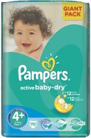 Фото - Подгузники Pampers Active Baby-Dry 4 Plus / 70 pcs