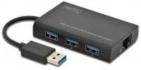Картридер/USB-хаб Digitus DA-70250