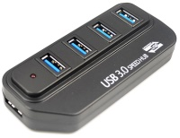 Картридер/USB-хаб Lapara LA-USB304A